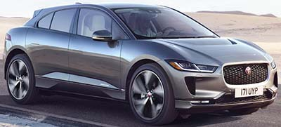 Jaguar 2020 I-PACE: US$69,850.