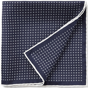 Joseph Silked Printed Pocket Square: £55.