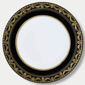 Kpm Königliche Porzellan Manufaktur Berlin Kurland Royal Noir Service Plate