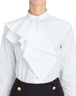 Lanvin women's Poplin shirt with ruffles: US$498.