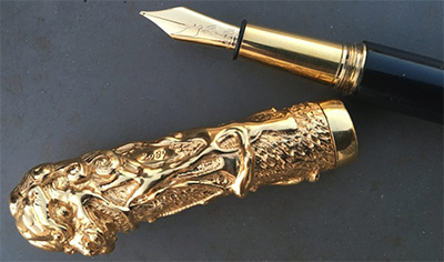 Michel Audiard Le Dragon fountain pen.