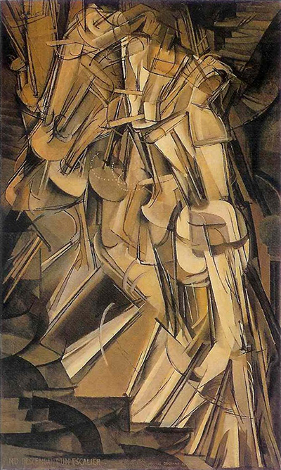 Nude Descending a Staircase (No. 2) (1912) by Marcel Duchamp (1887-1968).