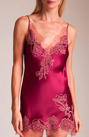 Nancy Meyer Carine Gilson Rose's V-Neck Silk Babydoll: US$1,310.