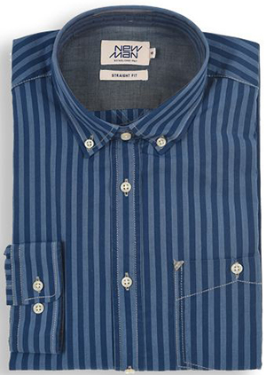 Newman Men's Dark Striped Shirt: US$59.