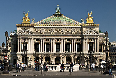 Palais Garnier, Place de l'Opéra, 75009 Paris, France.