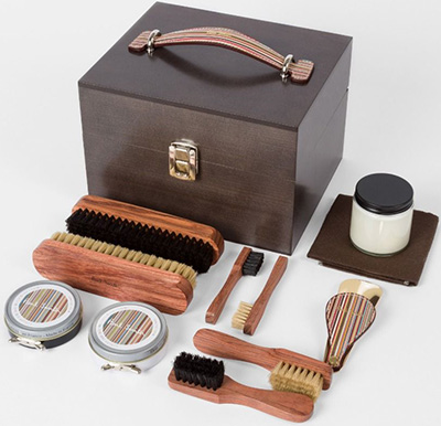 Paul Smith Luxury Wooden Shoe Care Kit: £395.