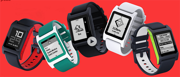 Pebble 2 smartwatches.