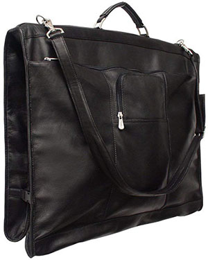 Piel Leather Elite Garment Bag, Black, One Size: US$297.37.