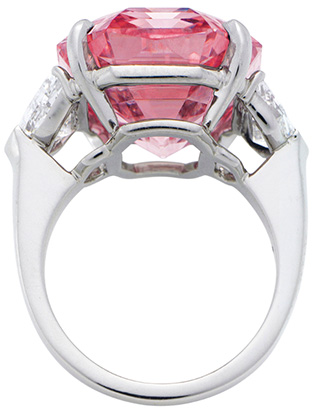 The Pink Legacy (weighing 18.96 carats).