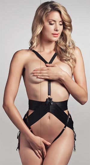 Pleasurements Bordelle Asobi Harness Black: US$306.
