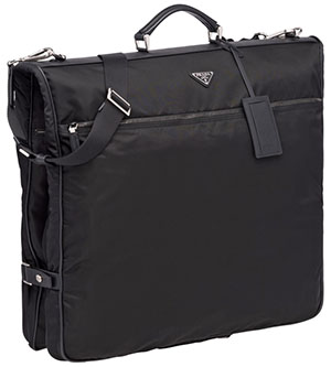Prada Saffiano leather & nylon garment bag: US$2,150.