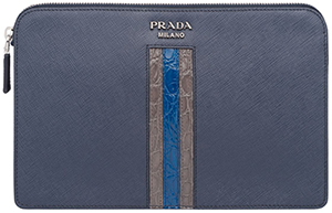 Prada Saffiano leather men's clutch: US$1,650.