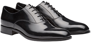 Prada Brushed leather laced Oxford shoes: US$950.