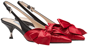 Prada Nappa leather slingbacks: US$890.