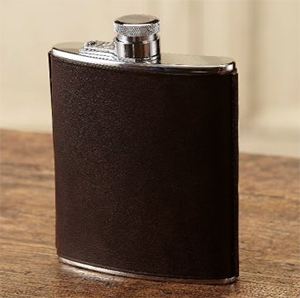 Purdey 8Oz Stainless Steel/Hand Stitched Leather Flask Captive Top: £129.