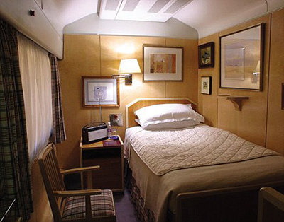 Inside the Queen's travelling bedroom in her mobile home-from-home.