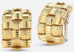Roberto Coin 3 Row Earrings: US$3,400.