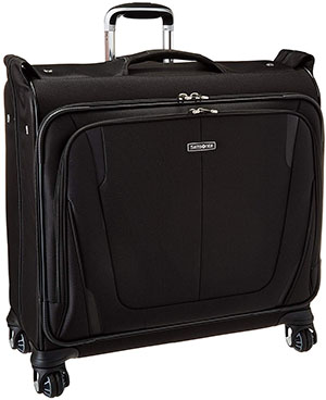 Samsonite Silhouette Sphere 2 Softside Deluxe Voyager Garment Bag, Black, One Size.