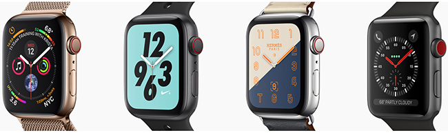 Apple Watches Series 4.