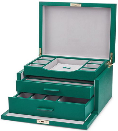 Smythson of Bond Street Grosvenor 3 Drawer jewellery box: £1,695.
