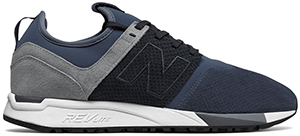 Todd Snyder men's New Balance 247 Luxe Suede Knit Mesh Sneaker in Blue: US$119.