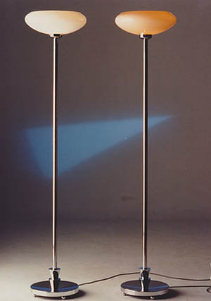 Something Special floor lamp, chrome & opal glass shade in white or pink: US$680.