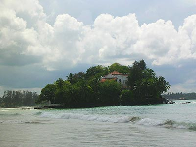 Taprobane Island, Weligama Bay, Sri Lanka, Indian Ocean.