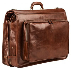 Maxwell Scott Bags The Rovello Leather Suit Carrier Luggage: £995.