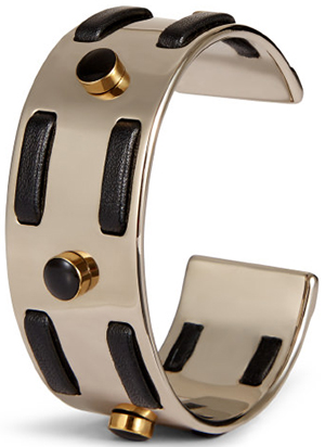Tod's women's Cuff in Metal & Leather: US$495.