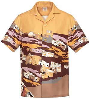 Tod's women's shirt in color-contrast printed fabric with button fastening & upper pocket: US$695.