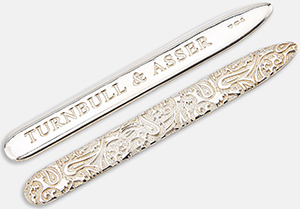 Turnbull & Asser Sterling Silver Collar Stays: £130.