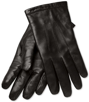 Charles Tyrwhitt Black leather gloves: US$79.