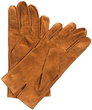 Undandy men's Suede Gloves Cognac: US$55.