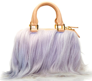 Brother Vellies Lavender Long Goat Mini Island Bag: US$1,050.