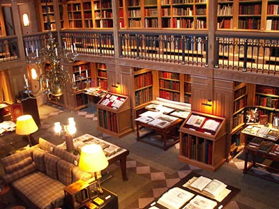 The Library at Wormsley, situated near Stockenchurch Buckinghamshire in the Chiltern Hills, U.K.