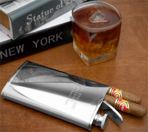 2-in-1 Cigar Holder and Flask: US$24.95.