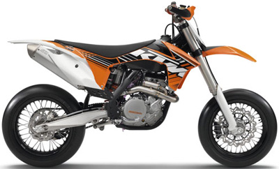 KTM Supermoto 450 SMR motorcycle.