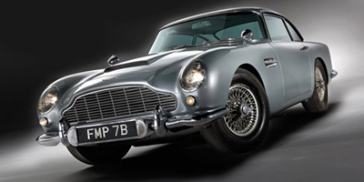 James Bond's 1964 Aston Martin DB5.