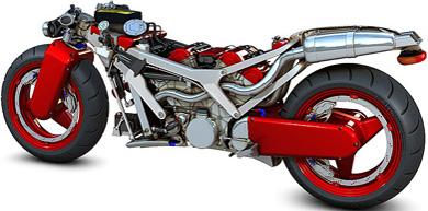 Ferrari V4 superbike.