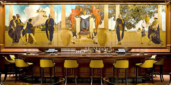 King Cole Bar, St. Regis hotel, 2 E 55th St, New York City, NY 10022.