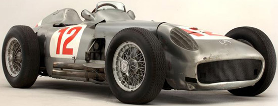 Mercedes-Benz W196 - the most valuable motor vehicle ever sold at auction: £19.6 million on July 12, 2013.