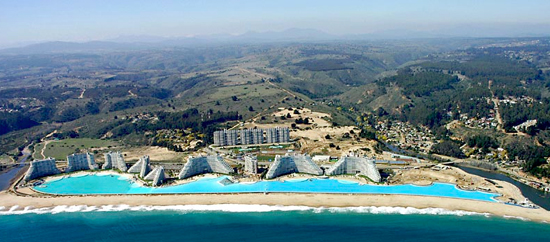 World's largest swimming-pool at San Alfonso del Mar Resort.