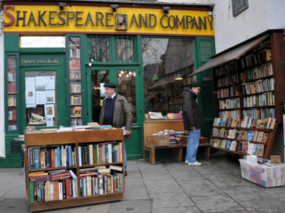 Shakespeare & Company Bookshop, 37 Rue de la Bûcherie, 75005 Paris, France.