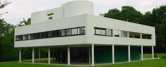 Villa Savoye (Poissy, Paris, France) by Le Corbusier (1931).