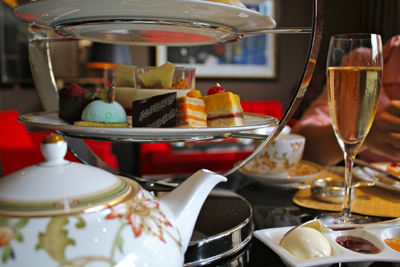 Afternoon Tea at Four Seasons at Park Lane, Hamilton Place, Park Lane, London W1J 7DR, England, U.K.