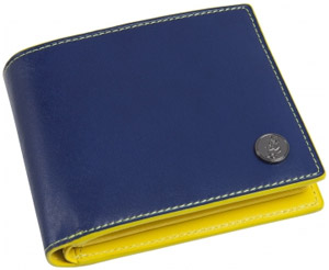 Agnès B. Men's Leather wallet with lizard medallion: €145.