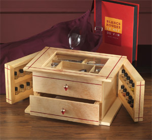 Agresti Chest w/ 24 Wine Aroma Kit: US$2,995.