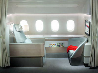 Air France La Première suite - 'A personal space tailored to your needs'.