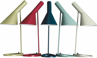 AJ Table lamp designed by Arne Jacobsen.