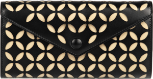 Alaïa laser-cut leather wallet: €590.